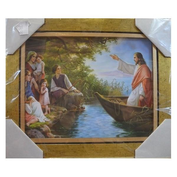OBRAZEK JEZUS NAUCZAJĄCY W ŁODZI