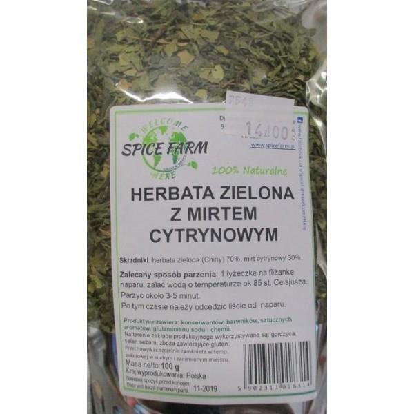 HERBATA ZIELONA Z MIRTEM CYTRYNOWYM 100G