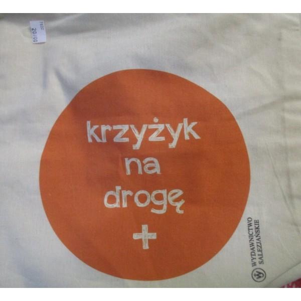 """TORBA BAWEŁNIANA Z NADRUKIEM """"KRZYŻYK NA DROGĘ"""""""