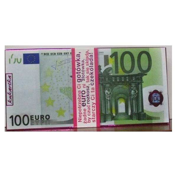 CZEKOLADA MLECZNA 100 EURO
